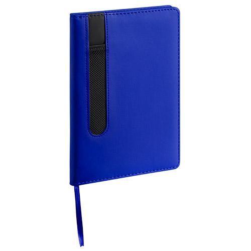 -Bloc Note a5 similicuir bleu
