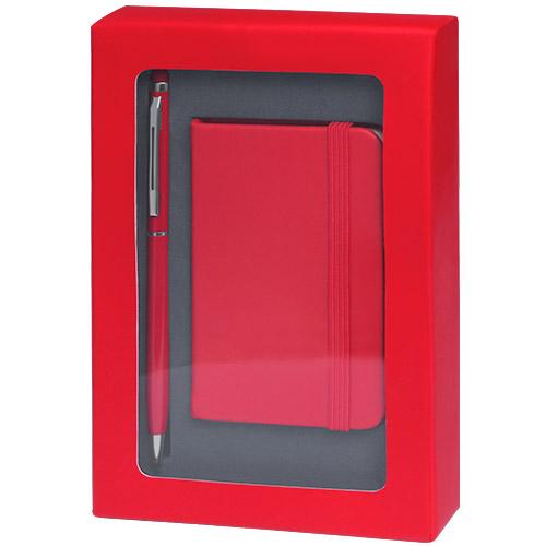 4867-bloc note coffret rouge