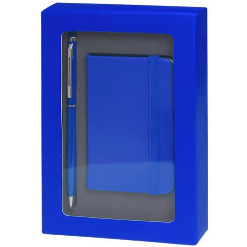 4867-bloc note coffret bleu